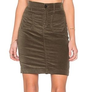 Hudson Fiona Sailor Pencil Skirt Army Green